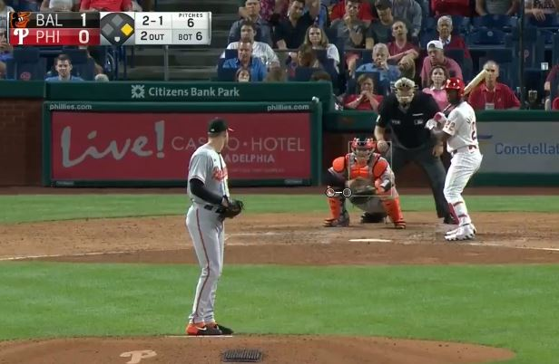 Thoughts and prayers to that ball's family Andrew McCutchen has the Phillies up 2-1!