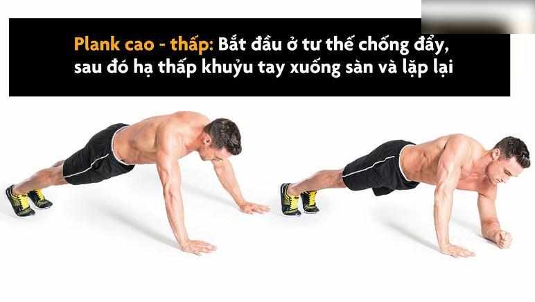Hướng dẫn bài tập bụng 6 múi với Plank lên cơ bụng vù vù