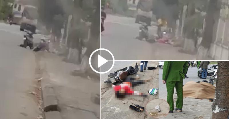 Clip toàn cảnh vụ việc cô gái ở Hà Tây bị đâm tử vong giữa đường, nghi do mâu thuẫn tình cảm