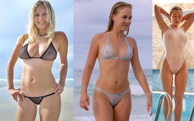 Hot Woman Show Almost Nude See Trough Bikini Pics Xhamster